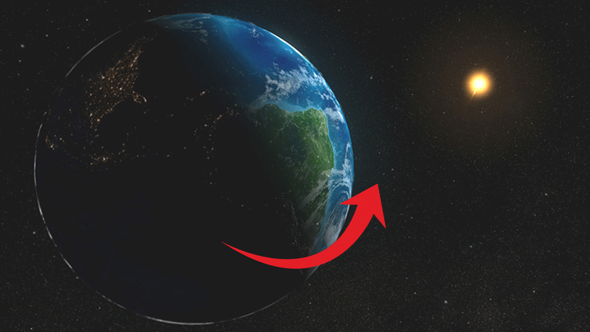 An artists rendition of the Earth and the Sun.