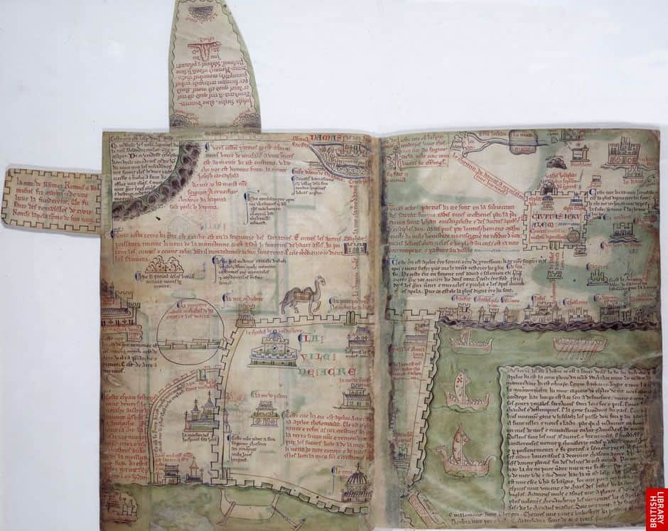 A Brief Look At Medieval Maps And Travel Guides Geolounge All