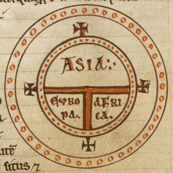 1472 copy of Etymologiae, XIV: de terra et partibus, Royal MS 6 C I, British Library