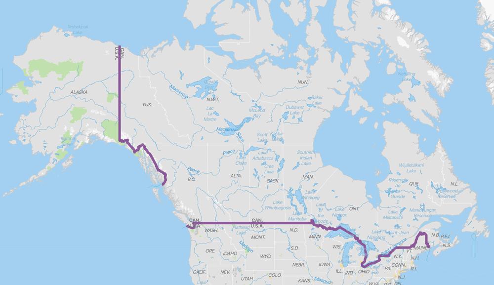 Map Of Detroit Canada Border Interesting Geography Facts About the US Canada Border   Geography