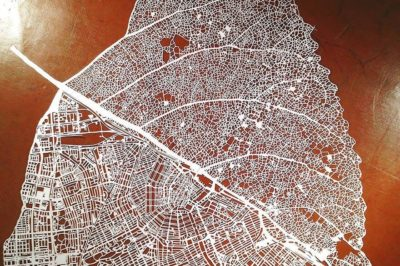 Leaf map of Amsterdam, Nils Westergard