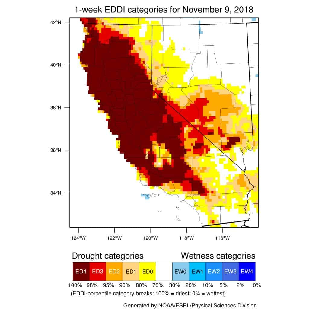 Intense drought conditions in California created a situation where the ground is so dry, it pulls moisture from the air.