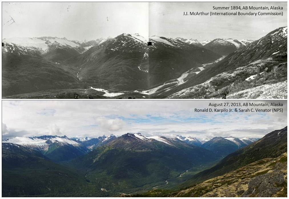 Top: Library and Archives Canada, PA-162918 and 162919. Bottom: NPS photo/R. Karpilo & S. Venator.
