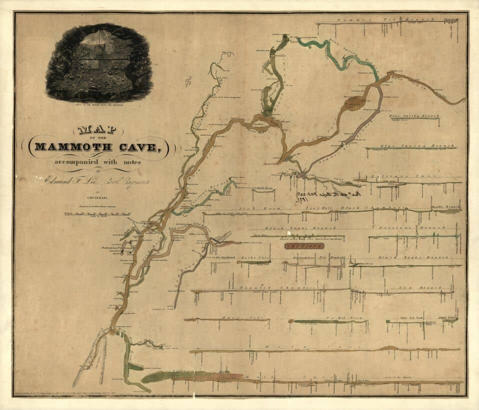 This 1835 Map Shows Incredible Detail About the Longest Cave ... Mammoth Cave Ky Map on i 65 kentucky map, mammoth trail map, smiths grove ky map, wind cave national park map, loretto ky map, kentucky caves map, mammoth az map, indiana caves map, adolphus ky map, mammoth on a map, ledbetter ky map, mannsville ky map, cave city map, mammoth campground, streets of covington ky map, mayking ky map, cave run lake ky map, blank ky map, mcveigh ky map, rowan county ky map,
