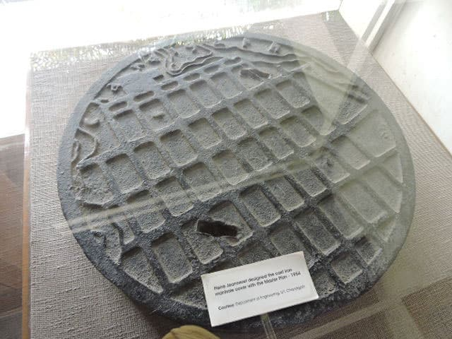 Chandigarh map manhole cover. Photo: Harvinder Chandigarh, CC BY 2.0
