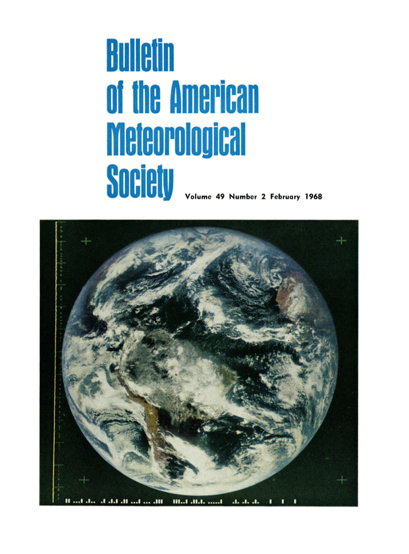 NASA's first color image of the Earth from space was featured on the cover of the Bulletin of the American Meteorological Society