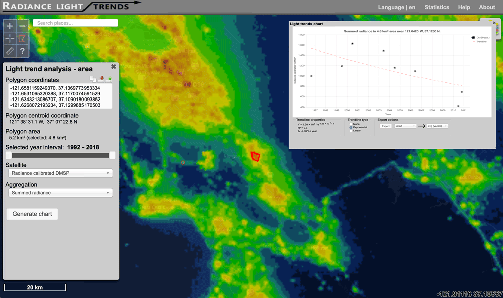 Interactive Map of How Nighttime Light Pollution Has Changed