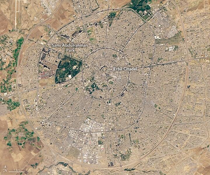 Erbil Citadel, November 20, 2018, Landsat 8.