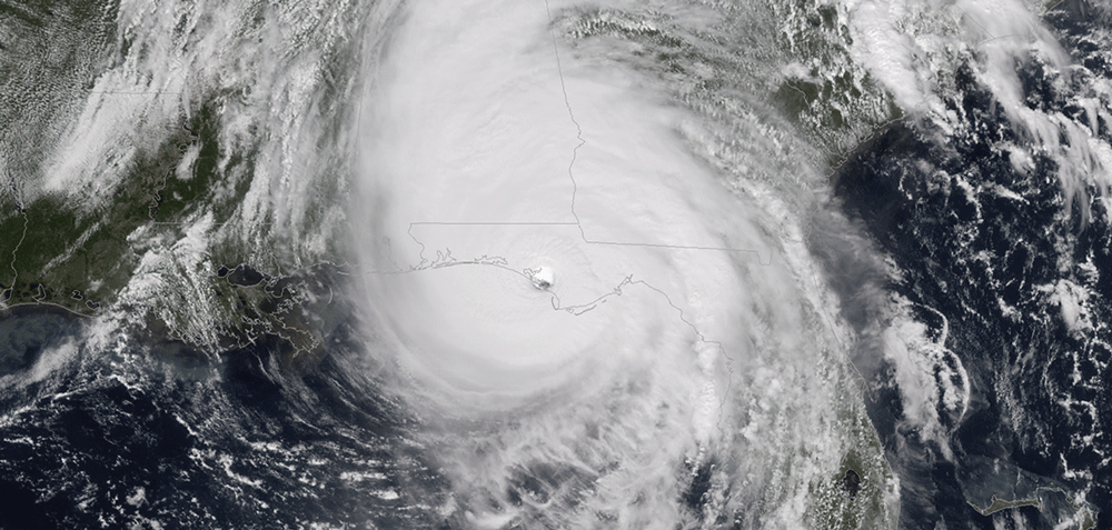 Goes-16 Pseudo-natural Color Image of Hurricane Michael at 1730 UTC 10 October 2018. Image: NOAA/NESDIS