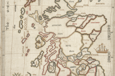 Margaret Montgomery's Map of Scotland. NLS shelfmark: EMS.s.701