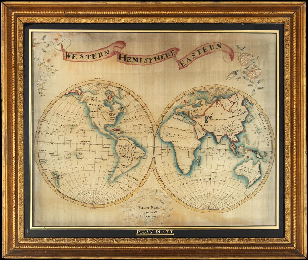 Double-hemisphere map of the world, 1809. Metropolitan Museum Museum of Art, New York, NY.