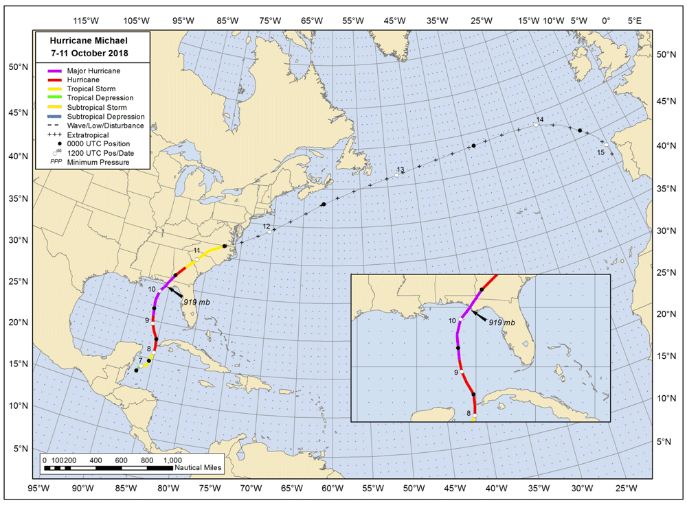 Hurricane Michael is the Fourth Category 5 Storm to Hit the United ...