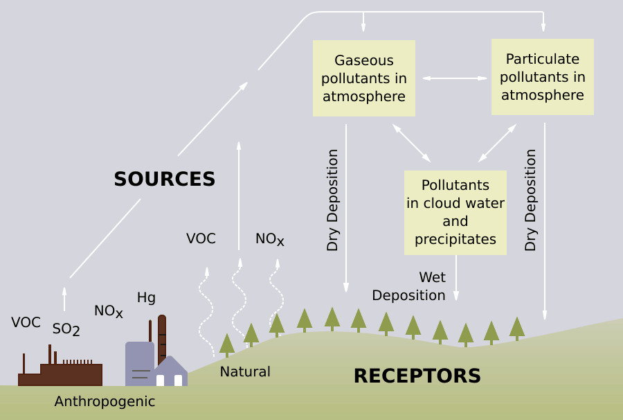 Origins of acid rain.  Image: US EPA