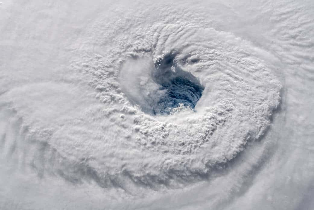 View of Hurricane Florence taken from the International Space Station, 2018. Source: NASA