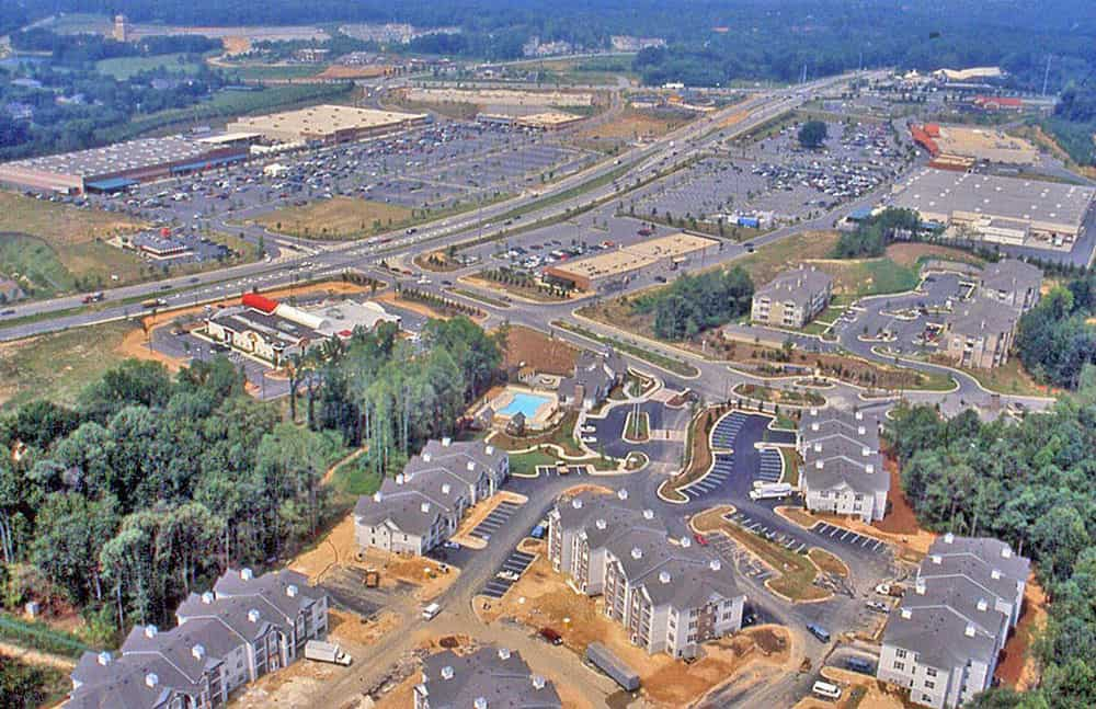 A view of a suburban subdivision being developed in Atlanta, Georgia, USA. Image: USGS, public domain.