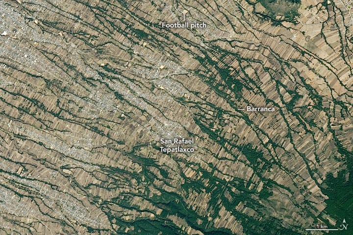 Satellite imagery of the northwestern side of La Malinche volcano, Mexico.  Image: NASA, public domain
