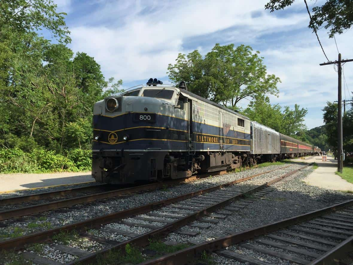 Front end of a train in Ohio.