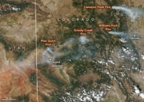 Three of Colorado's Wildfires are the  Largest in Recorded History for the State