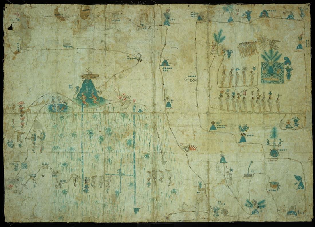 Mapa de Sigüenza, 16th century.  Instituto Nacional de Antropología e Historia (INAH, National Institute of Anthropology and History) via World Digital Library.