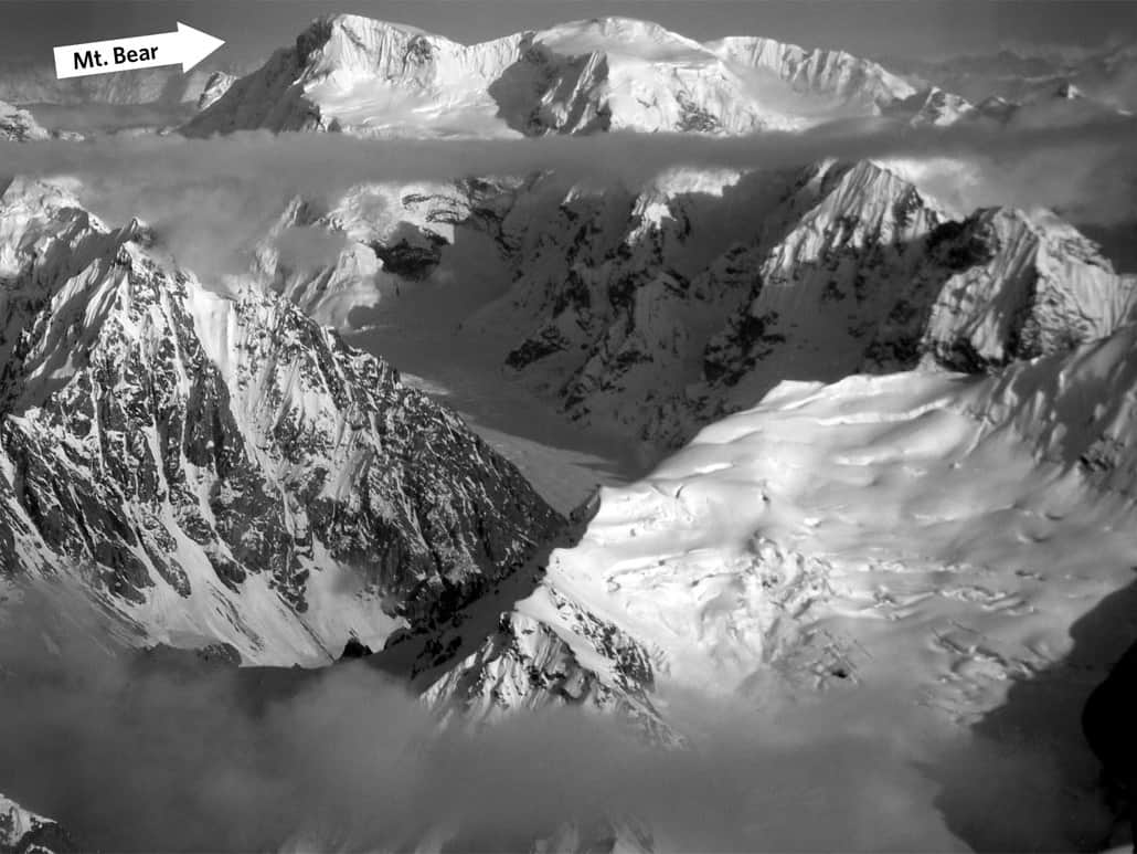 View of Mount Bear from an airplane.  Photo: Mebbing, MediaWiki, public domain.