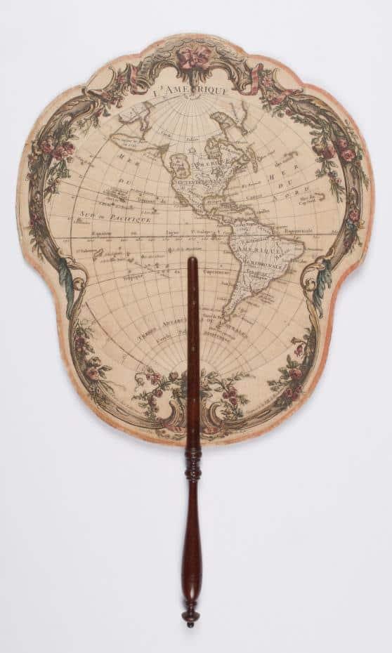 The 'L'Amerique' fan by Jean Lattre, ca. 1779.  Source: Winterthur