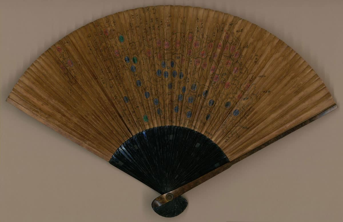 Korean fan map: Cholla-do chido. 1800-1899. Source: Library of Congress.