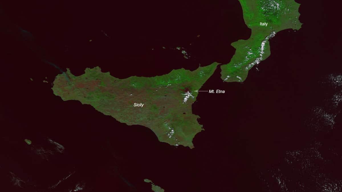 NOAA2 satellite imagery of Mount Etna on September 13, 2019.  Source: NOAA