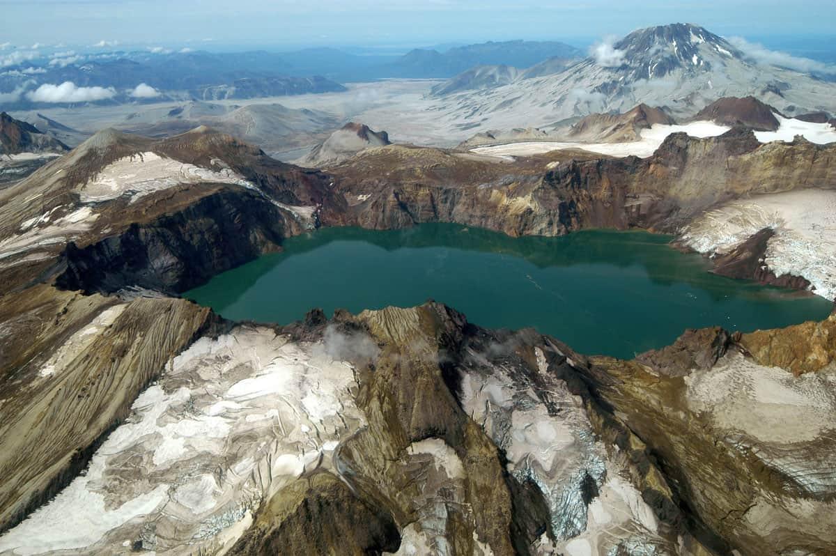 Katmai Calder, Katmai National Park and Preserve, NPS, public domain.