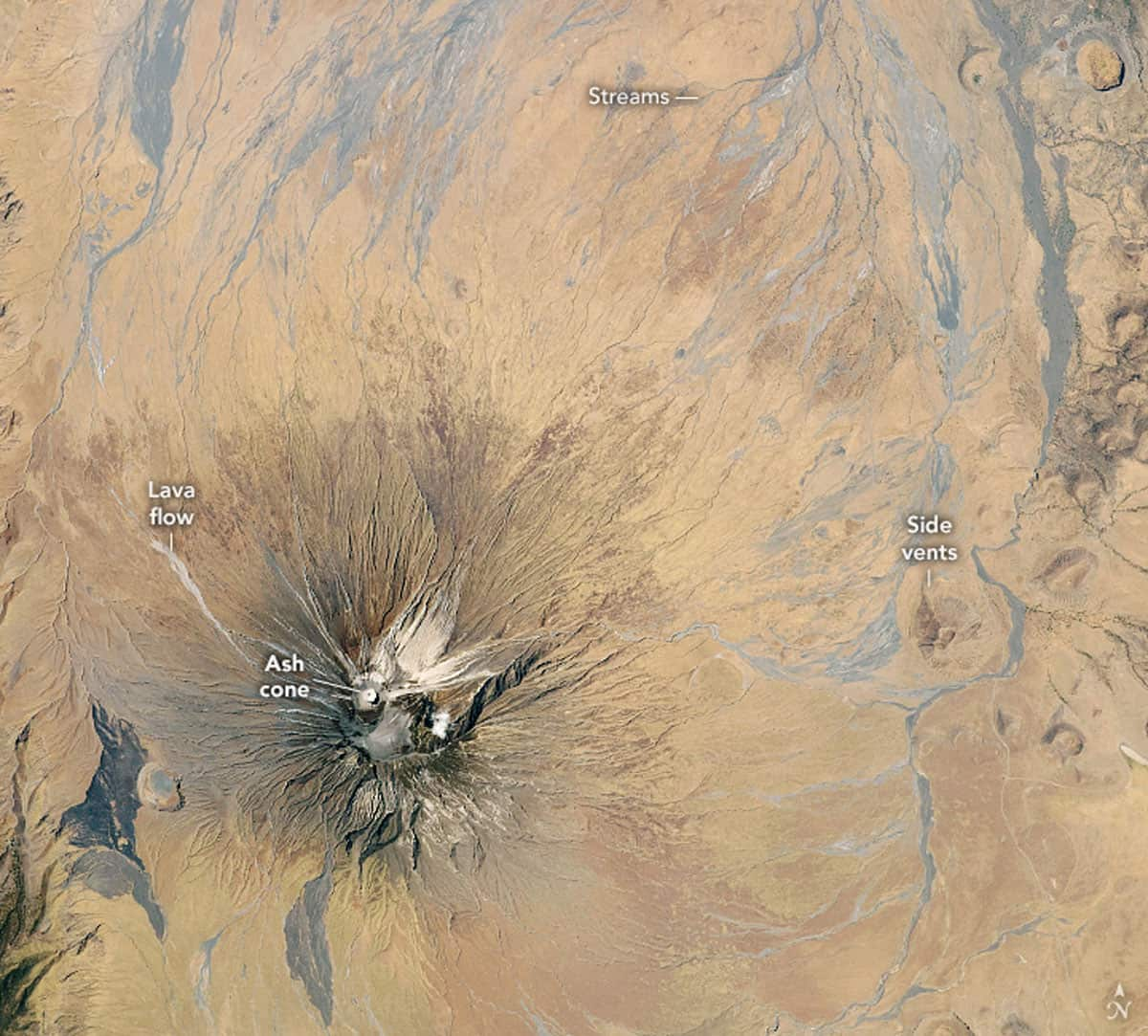 Astronaut photograph ISS063-E-104178 of Ol Doinyo Lengai was acquired on October 6, 2020