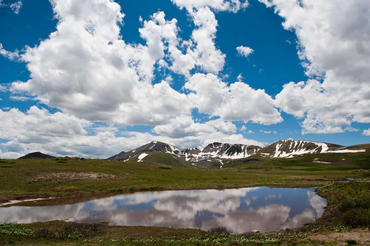 View of the Continental Divide in Colorado. Photograph credit: Alexander Stephens, Bureau of Reclamation.