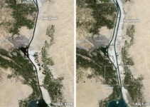 View From Space: Stuck in the Suez Canal