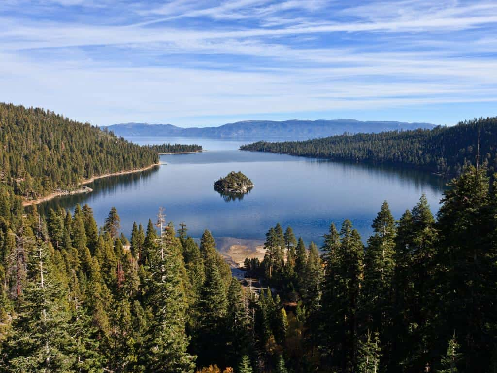 View of Lake Tahoe from Emerald Bay. Photo: NASA/JPL.