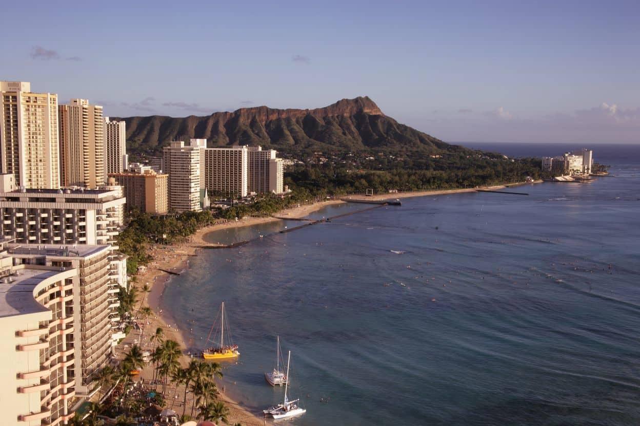 Honolulu skyline.  Photo: Carole M. Highsmith, public domain via LOC.gov.
